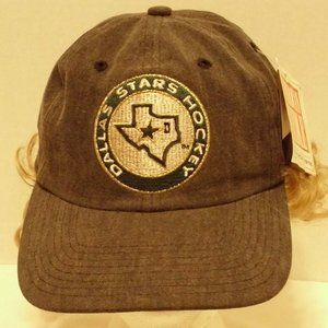 Dallas Star Hockey 90's Hat Tags Adjustable Back